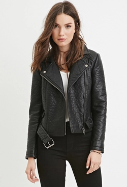 Forever21 - Faux Leather Moto Jacket
