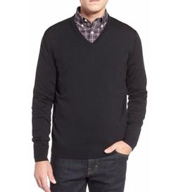 Thomas Dean - Regular Fit V-Neck Merino Wool Sweater