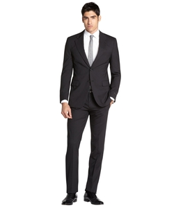 Prada - Black Wool Two-Button Suit With Flat Front Pants