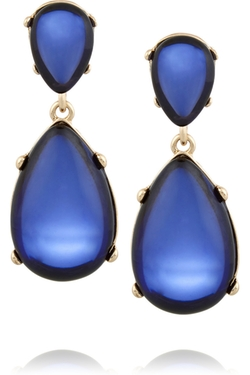 Kenneth Jay Lane - Gold-Plated Cabochon Clip Earrings