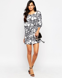 Style London - Palm Print Shift Dress