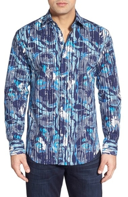 Bugatchi - Classic Fit Print Sport Shirt