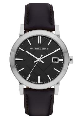 Burberry  - Check Stamped Round Dial Watch
