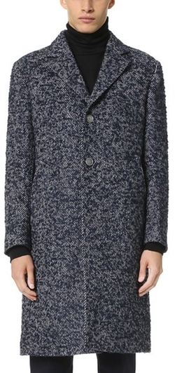 Officine Generale - Soft Jack Textured English Wool Overcoat