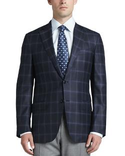 Ermenegildo Zegna   - Plaid Two-Button Sport Coat