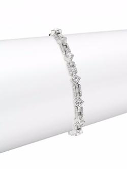 Adriana Orsini  - Pavé Crystal Thin Line Bracelet