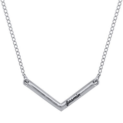 JC Penney - Personalized V-Shaped Engraved Necklace