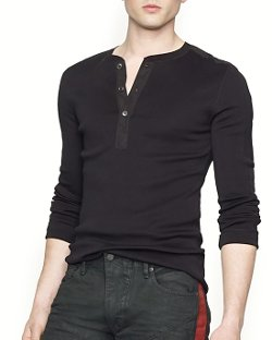 Ralph Lauren Black Label  - Moto Henley Shirt