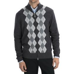 Toscano - Argyle Zip Sweater