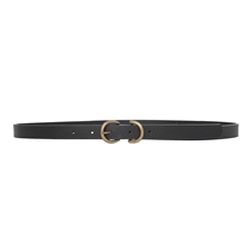 Leon Max - Skinny Snakeskin Belt
