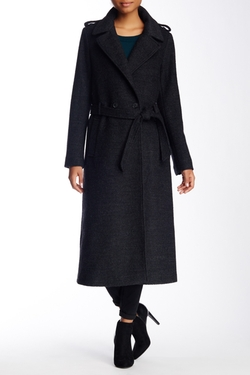 Soia & Kyo - Wool Blend Relaxed Trench Coat