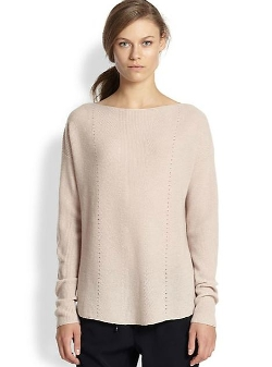 Vince - Ribbed Cashmere Relaxed Boatneck Sweater