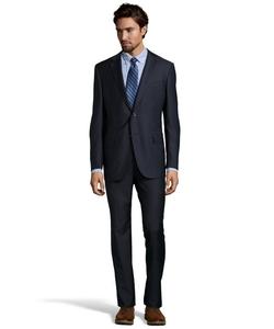 Ermenegildo Zegna - Navy Blue Pinstripe Wool Two-Button Suit
