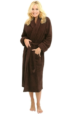 Alexander Del Rossa - Thick Terry Cloth Cotton Bathrobe