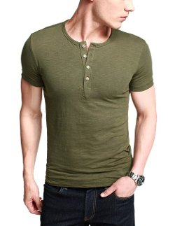 Match  - Cotton Henley Shirt