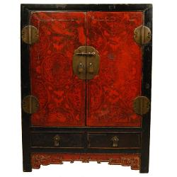 Pagoda Red - Finely Lacquered Chest