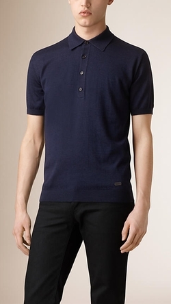 Burberry - Silk Knitted Cashmere Polo Shirt