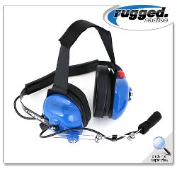 Rugged Radios - H42 Light-Blue Headset with PTT