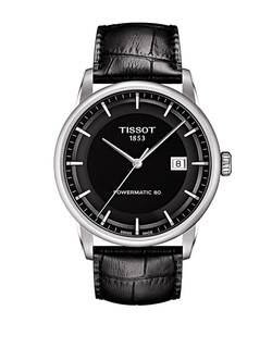 Tissot - Luxury Silvertone & Leather Watch