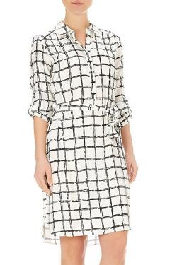 Wallis - Monochrome Check Shirt Dress