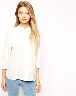 ASOS  - Collarless Blouse