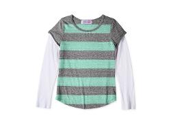 Derek Heart - Striped Slider Tee Shirt