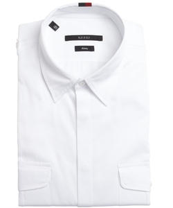 Gucci - Cotton Button Front Point Collar Shirt