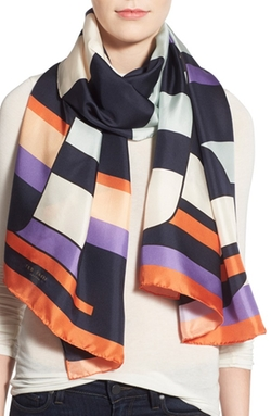 Ted Baker London  - Logo Stripe Silk Scarf