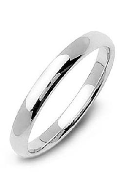 King Ice  - 3mm .925 Sterling Silver Band Ring