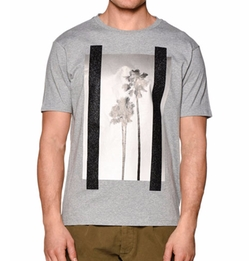 Palm Angels - Palm Tree Graphic Short-Sleeve Melange T-Shirt