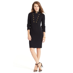 Ralph Lauren - Military Cotton Sweater Dress
