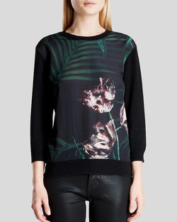 Ted Baker - Cadera Palm Floral Front Sweater