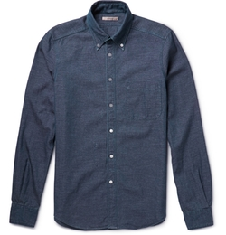 Boglioli - Button-Down Collar Cotton-Chambray Shirt
