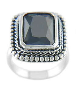 Lord & Taylor - Black Cubic Zirconia Ring