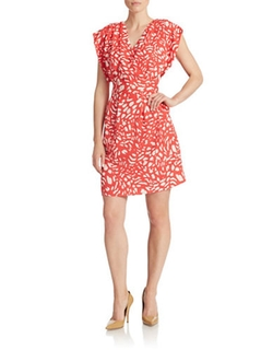 Eliza J - Printed Wrap Bodice Dress
