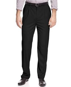 Louis Raphael  - Classic-Fit Hidden Extention Pleated Dress Pants