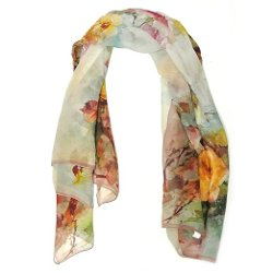Ally Drew - Floral Painting Square Scarf