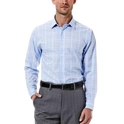 Haggar - Glen Plaid Poplin Dress Shirt
