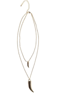 Boohoo Night  - Katie Double Horn Necklace
