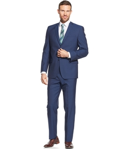 Marc New York by Andrew Marc - Sharkskin Solid Classic-Fit Suit