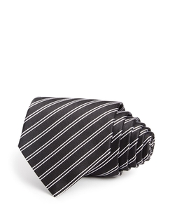 Armani Collezioni   - Stripe Jacquard Silk Classic Tie