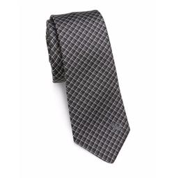 Burberry  - Checked Silk Tie