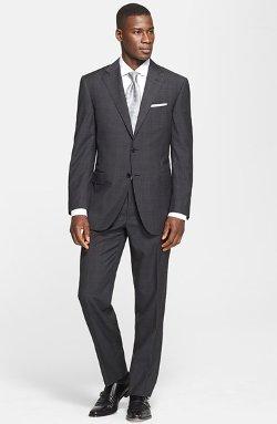 Canali  - Classic Fit Glen Plaid Suit