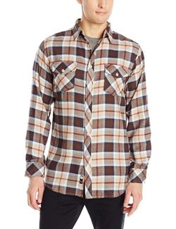 Burnside - Vector Plaid Flannel Woven Shirt