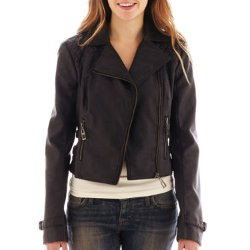 Sugarfly  - Faux-Leather Moto Jacket