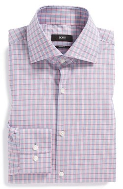 Boss Hugo Boss  - Sharp Fit Plaid Dress Shirt