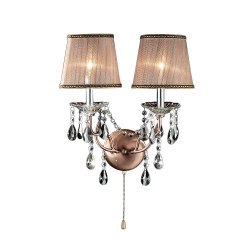 Ok Lighting - Antique Brass Rosie Crystal Wall Sconces