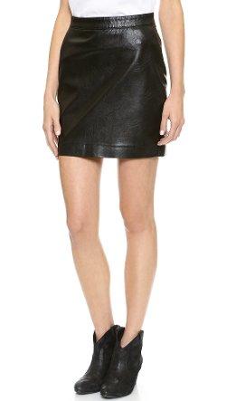 Blank Denim  - Vegan Leather Miniskirt