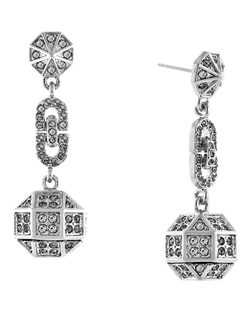 Louise Et Cie - Rhodium Plated Post Drop Earrings
