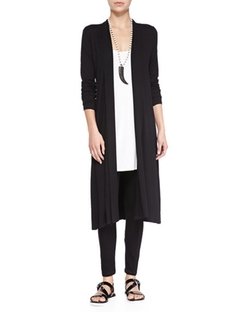 Eileen Fisher  - Long Shaped Jersey Cardigan